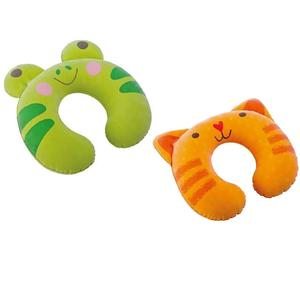 68678 Надувная подушка Kidz под шею для детей 28х30х8см, 2 вида, от 3 лет