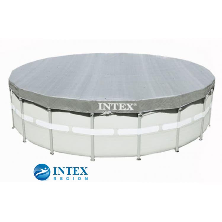 Тент-покрывало Intex 28040 для круглых каркасных бассейнов 488 см