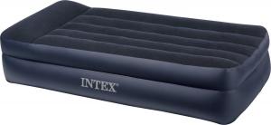 66706 Надувная кровать Pillow Rest Raised Bed 99х191х42см с подголовником, встроенный насос 220V