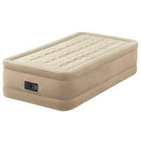 64456 Надувная кровать Ultra Plush Bed 99х191х46см, встроенный насос 220V