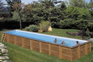 Прямоугольный деревянный бассейн 1200x400х146 см CARDAMON GRE 788033