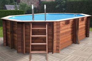 Овальный деревянный бассейн 436x336x119 см GRENADE GRE