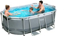Каркасный бассейн Bestway 5614A 305х200х84 Oval Power Steel Pool