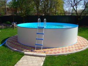 Сборный бассейн ЛАГУНА 45715 круглый 457х125 см (белый)