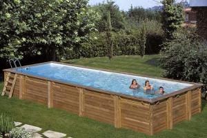 Прямоугольный деревянный бассейн 1000x400х146 см MINT GRE 788032