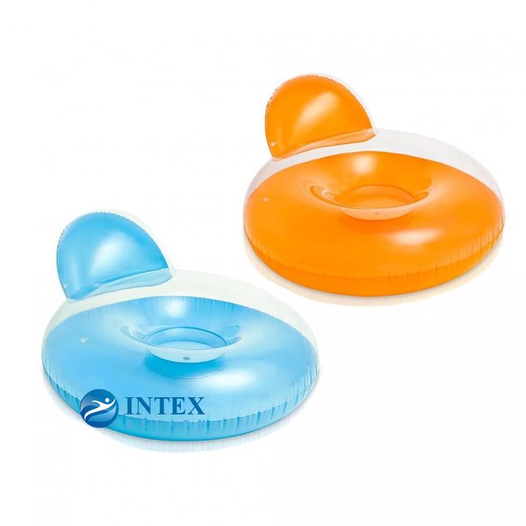 Надувное кресло-круг Intex арт.58889 137х122см, 2 цвета, от 14 лет