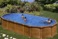 Каркасный бассейн GRE PR7388WOMAG овальный 730x375x132 см