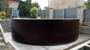 Сборный бассейн ЛАГУНА 24411 круглый 244х125 см (шоколад)